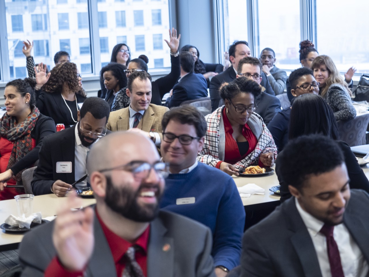 Diversity Case competition participants smiling.