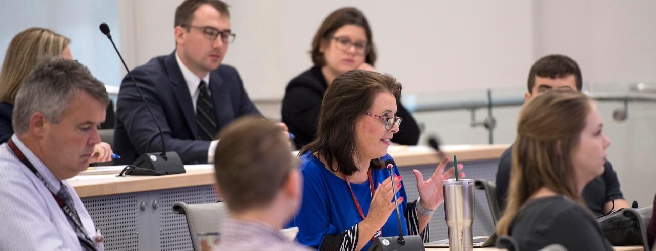 Opioid Task force meeting: Jill Boone, center