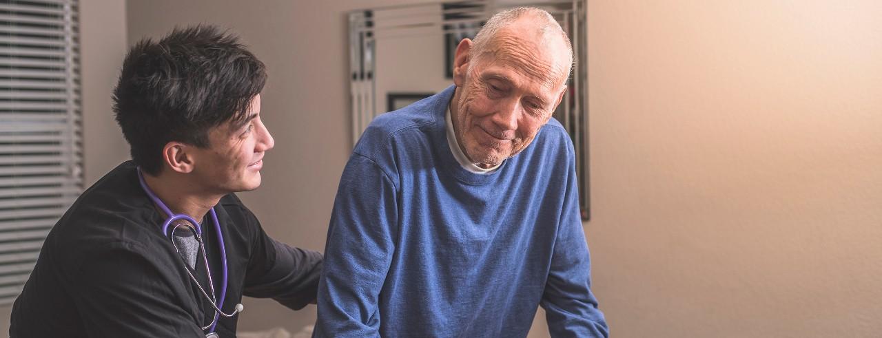 stock image geriatric care