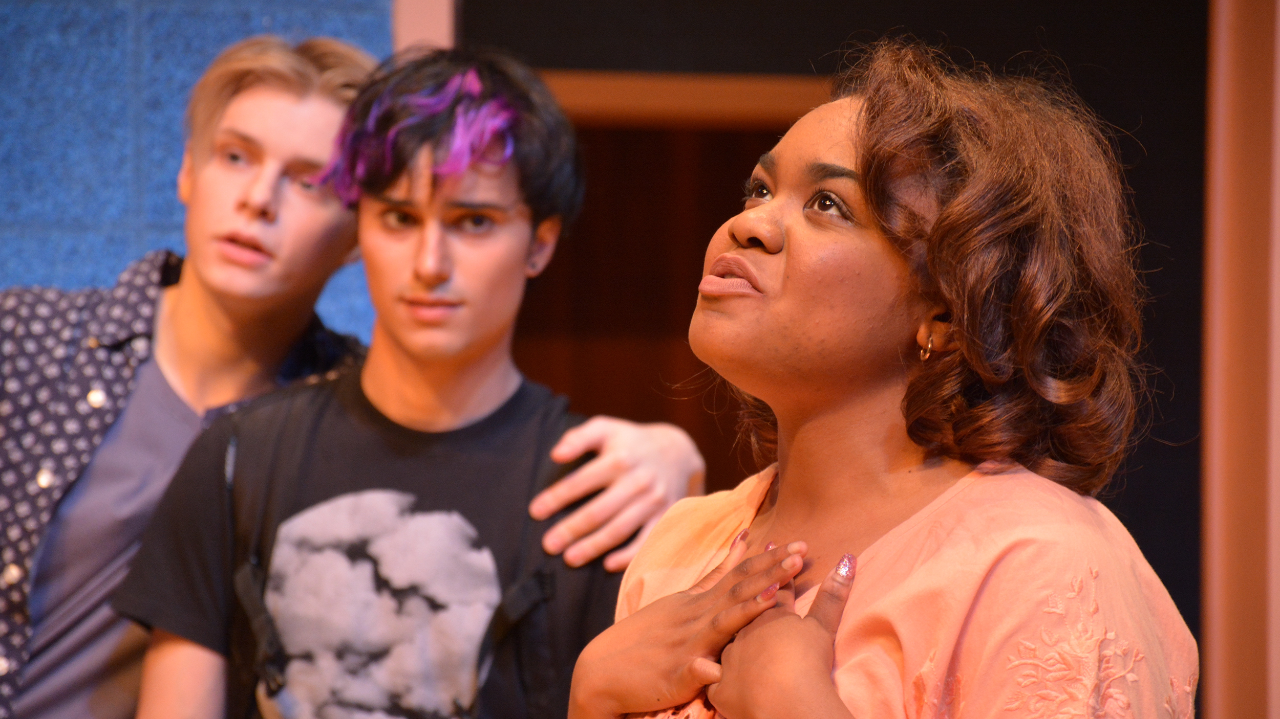 CCM Acting students on stage during a performance.