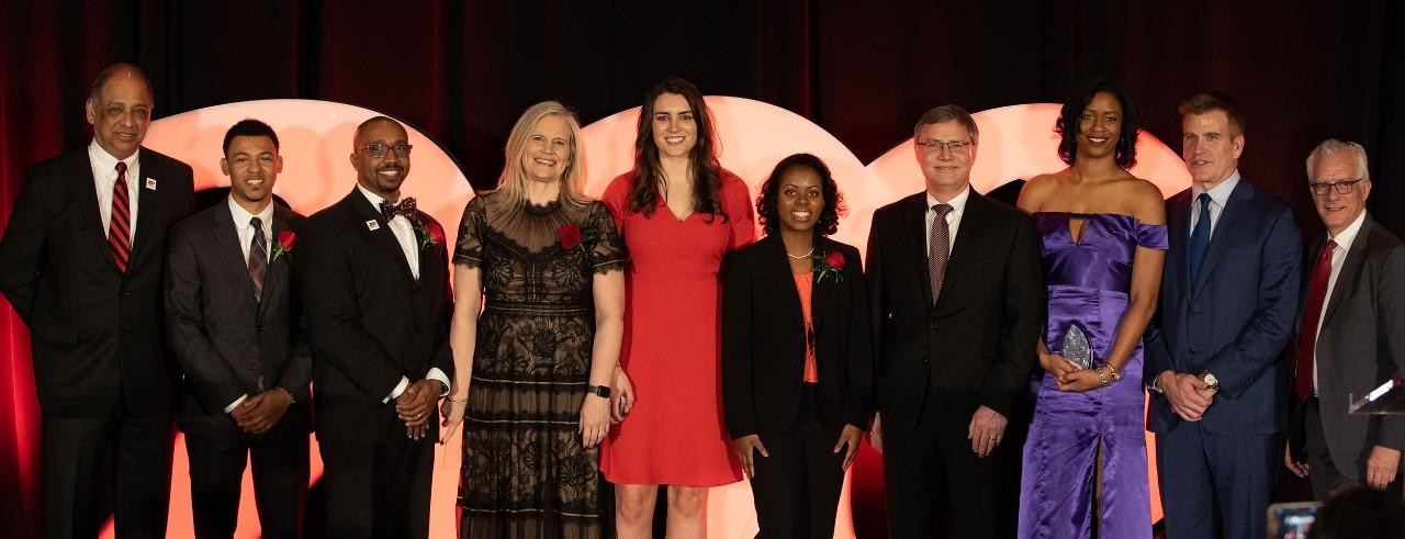 2019 Cincinnati Business Achievement Awards honorees, President Pinto, Dean Williams and President Landgren