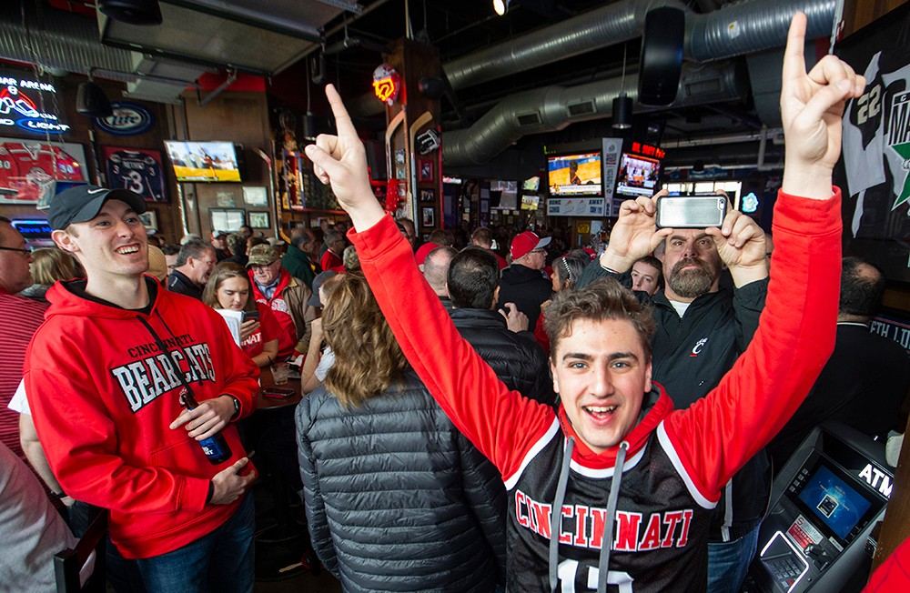 UC fans at a pregame party