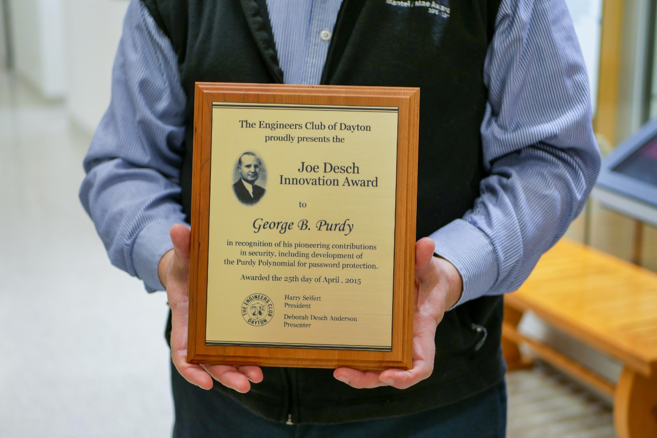 closeup of plaque of George Purdy