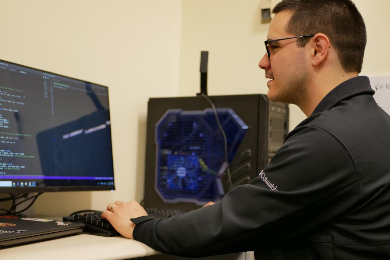Mace at computer