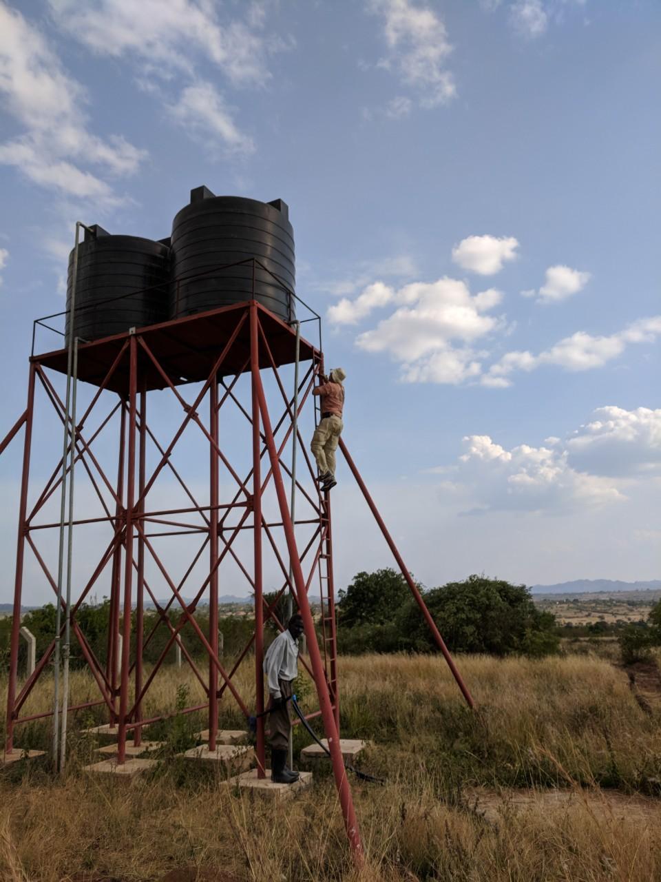 water tower in Tanzania