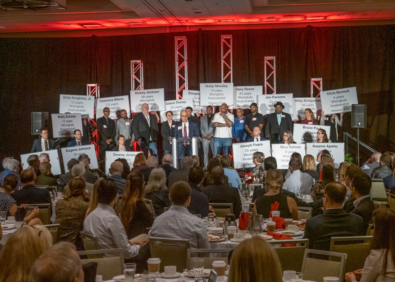 Exonerees from the 2019 OIP breakfast
