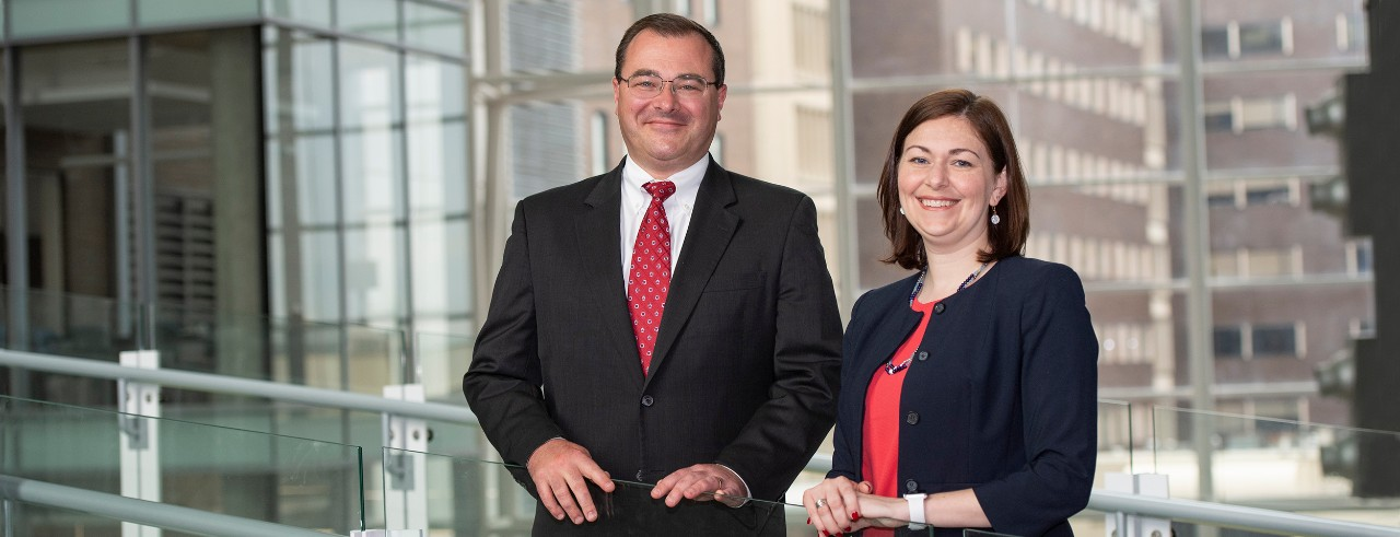 Mike Lyons, MD and Jennifer Brown, PhD, College of Medicine