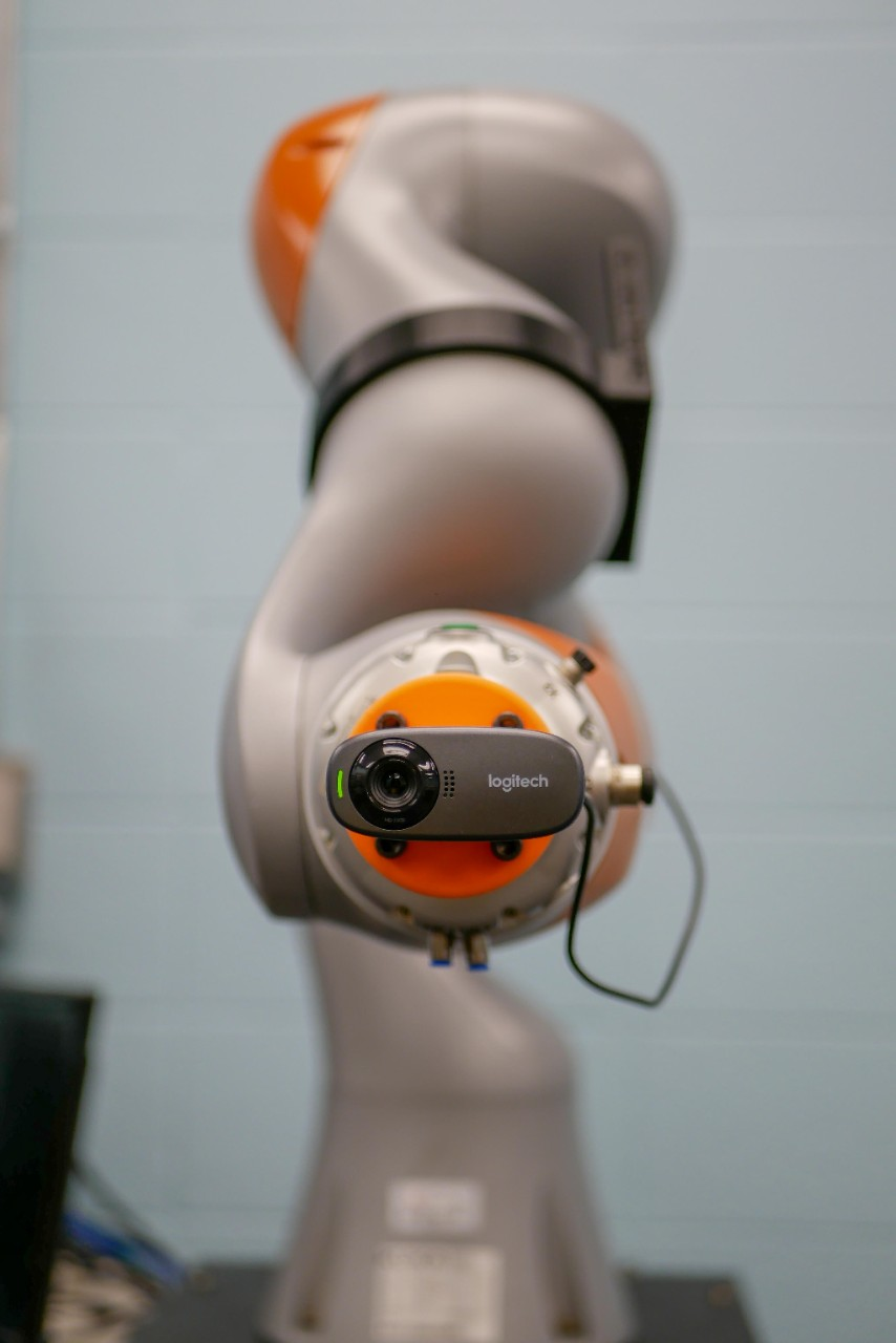 closeup of front of robot