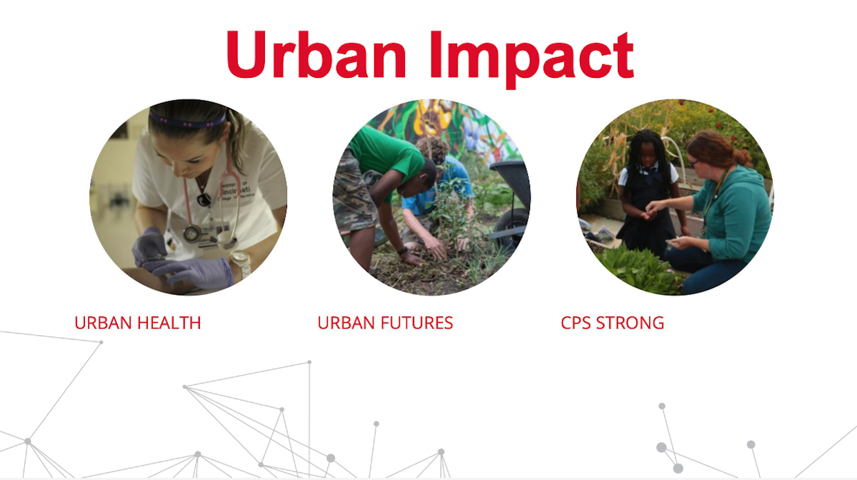 Slide shows Urban Impact examples