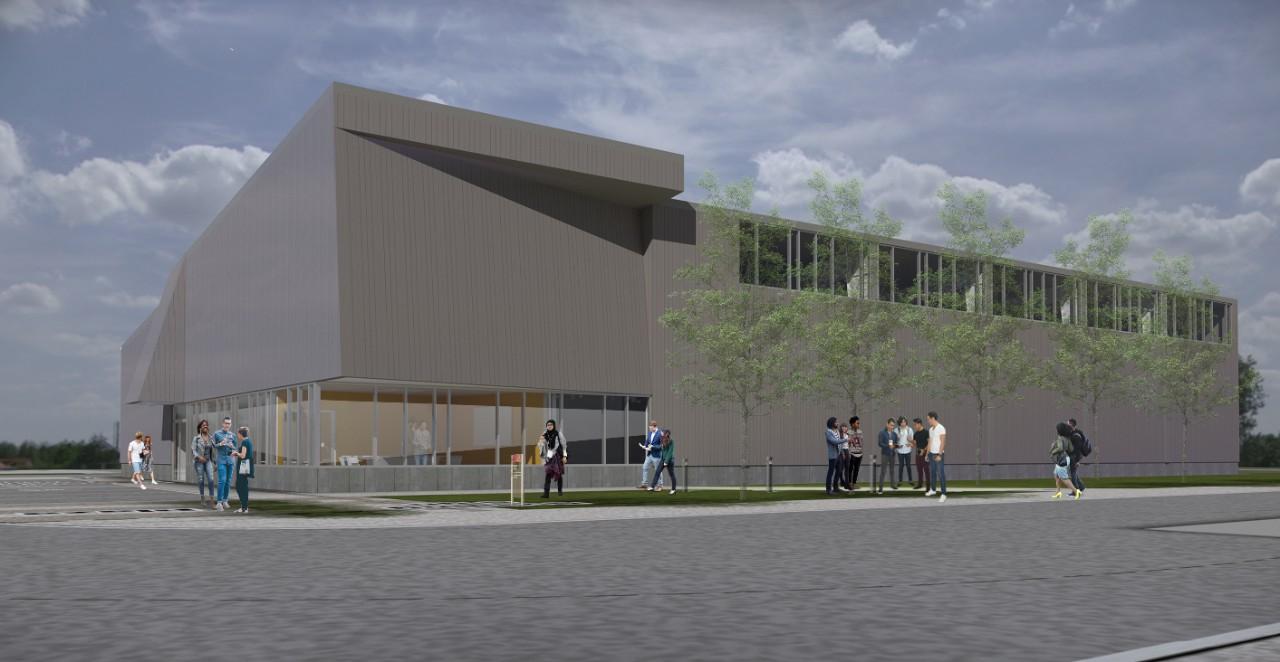 An illustration of UC's new DAAP Studio Annex