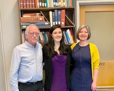 From left, UC professor John Drury, grad student Caitlin Doyle and UC professor Rebecca Lindenberg