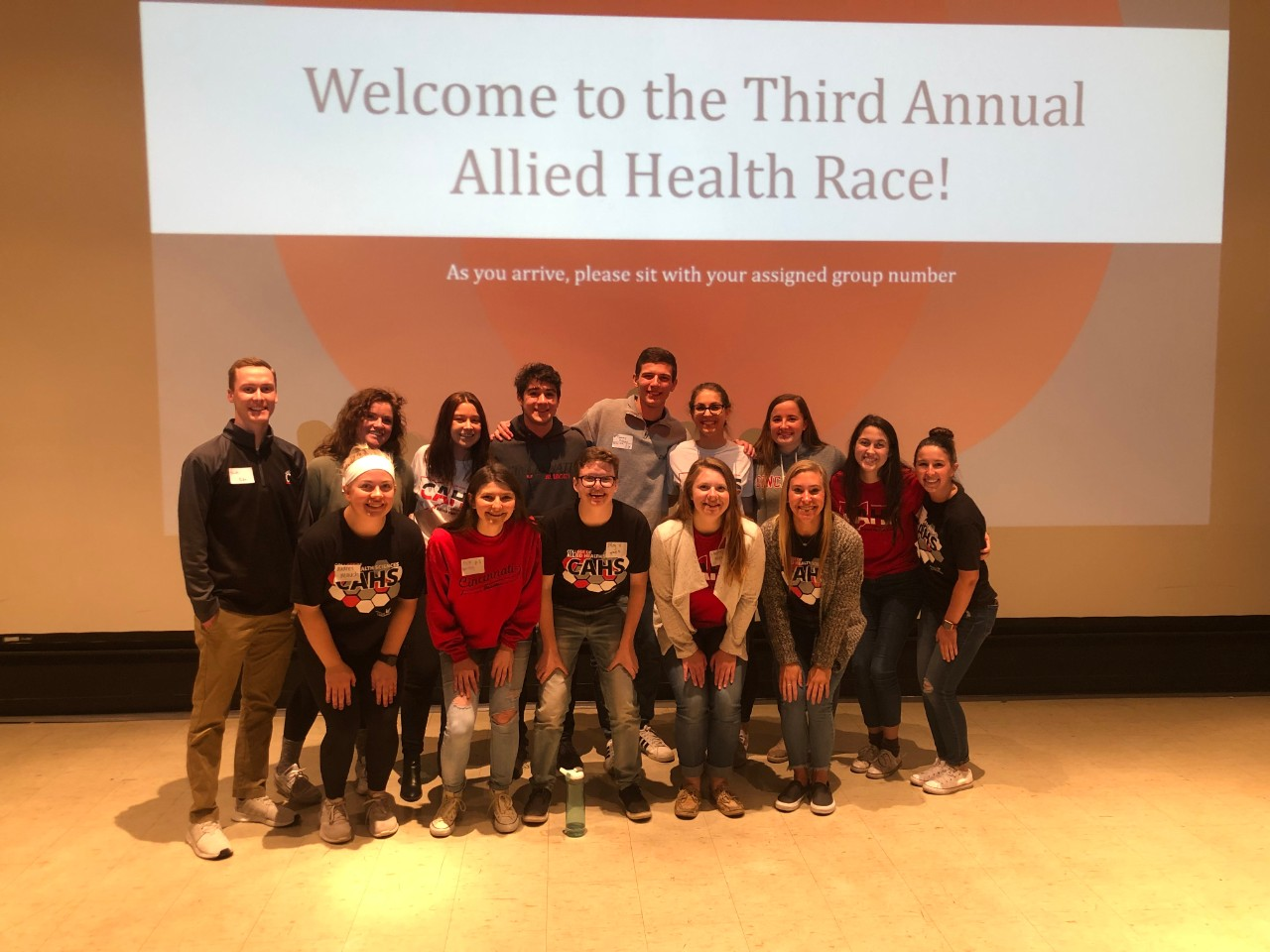 Allied Health Race students pose for a photo