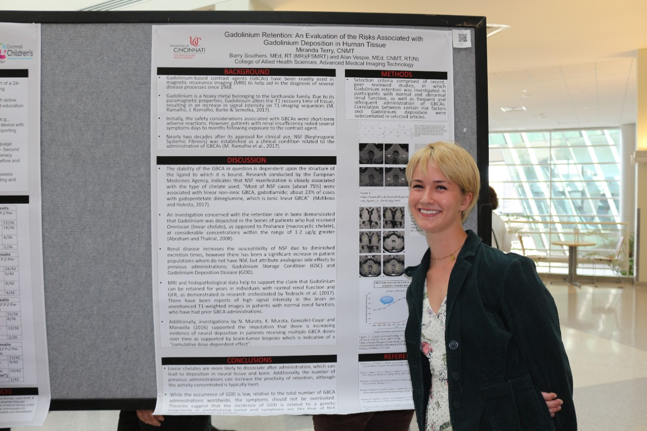 AMIT student Miranda Terry with her research poster