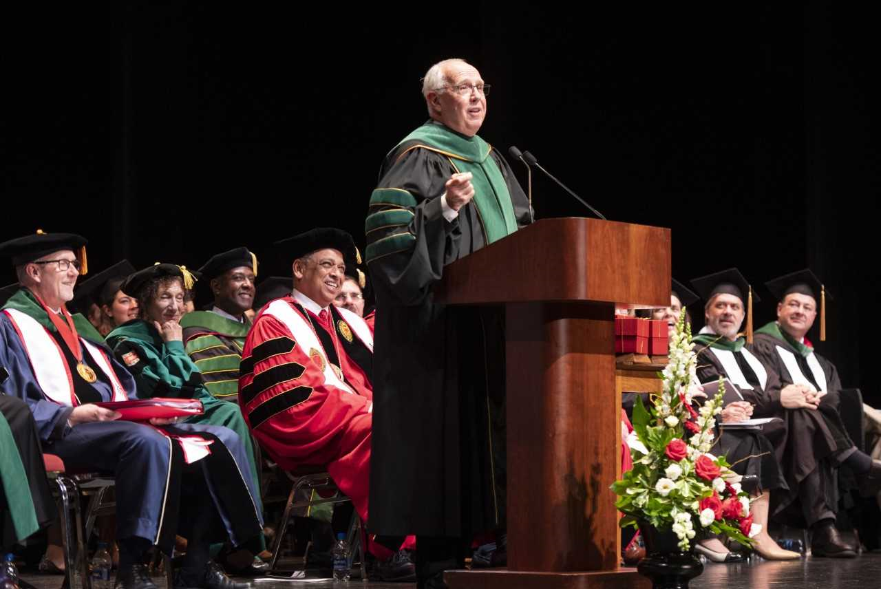 Darrell Kirch, MD, speaks at Honors Day.