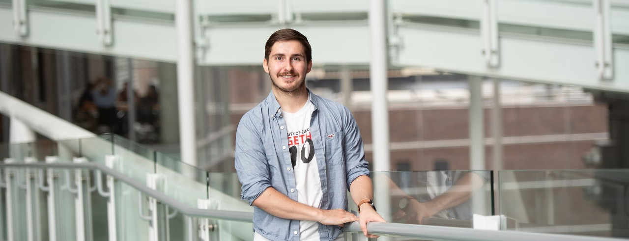 Ryan Anderson shown in the UC College of Medicine