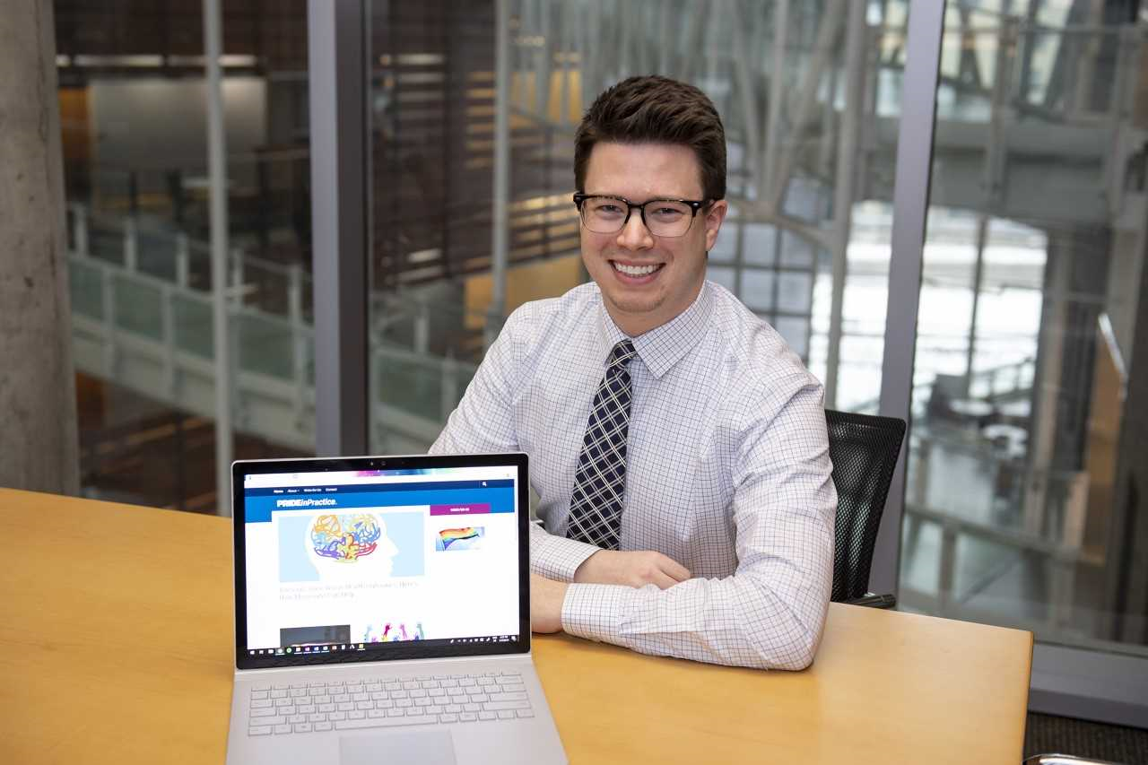 Haidn Foster, a UC medical student, is shown in the College of Medicine.