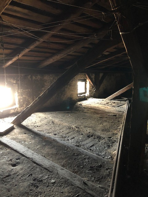 The attic where Menachem Limor hid until he was discovered by Nazis.