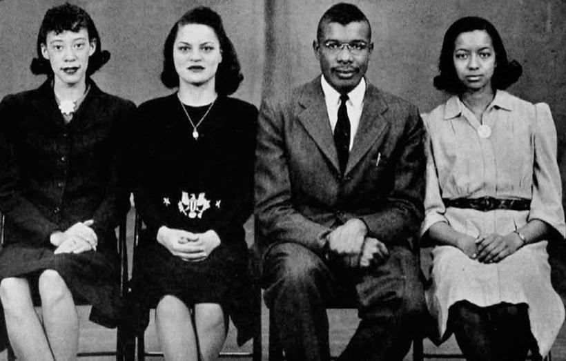 Quadres members May Spurlock, Marian Spencer, Benjamin Alexander and Dorothy Leslie