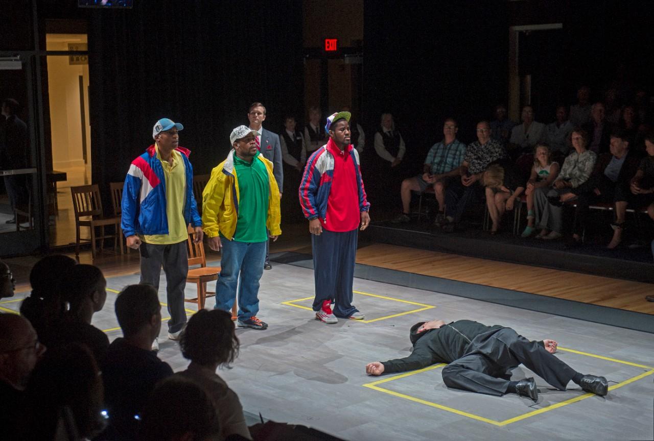 Scene from Blind Injustice opera; photographer: Philip Groshong/Cincinnati Opera