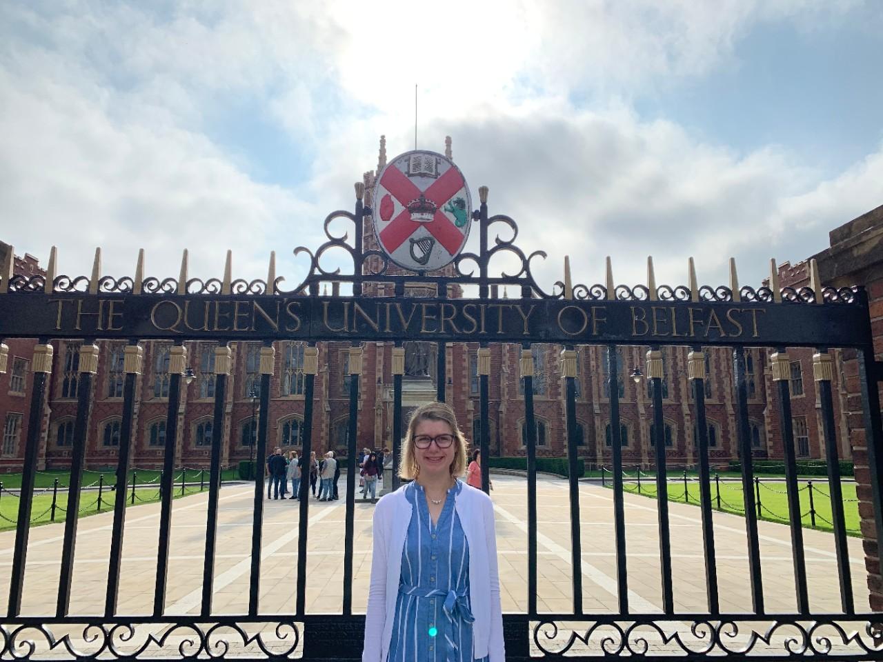 Chloe Elleman at Queen's University Belfast in Northern Ireland.