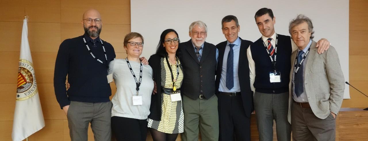 Dan Durbin with USAC resident directors in Valencia