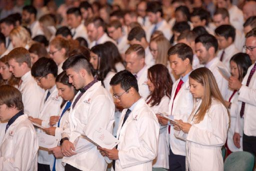 Medical student read their Oath of Professionalism during the 2019 White Coat Ceremony.