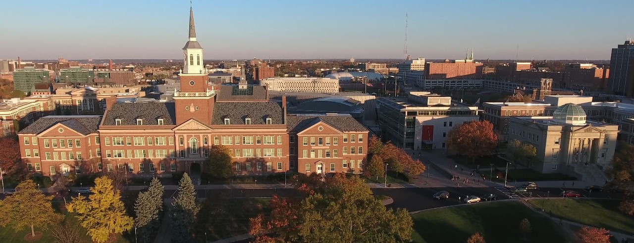 skyline view of UC's Clifton campus