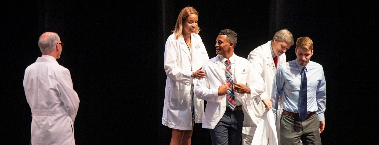 Medical student Adam Butler shown at the UC College of Medicine White Coat Ceremony.