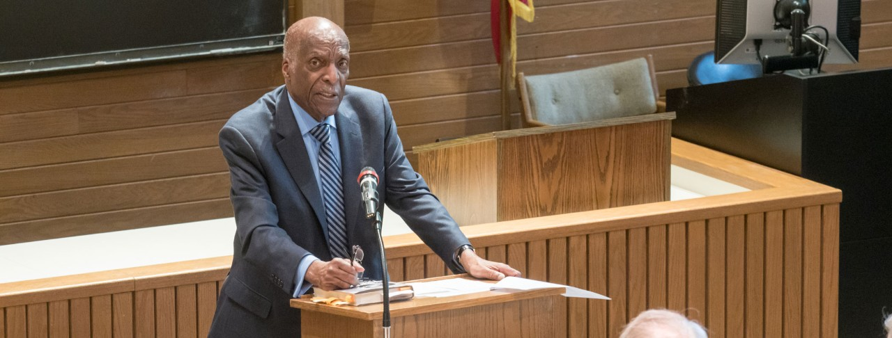 Judge Jones speaks to students and faculty