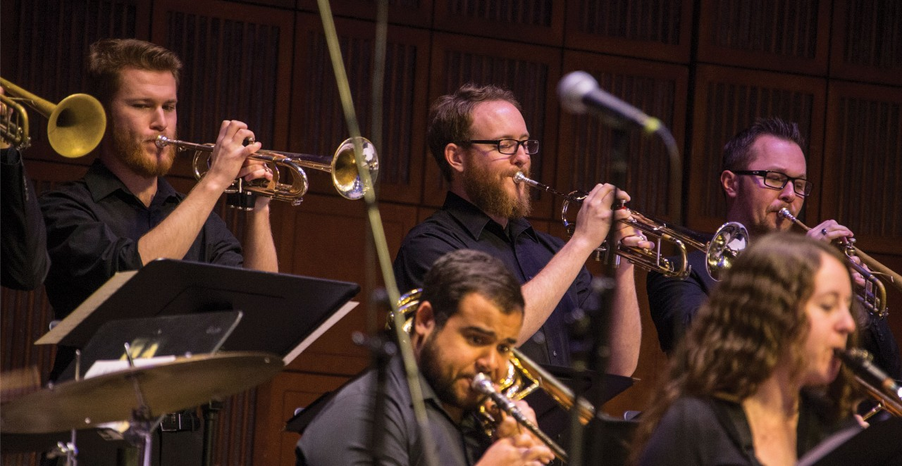 Students in CCM Jazz perform during a concert