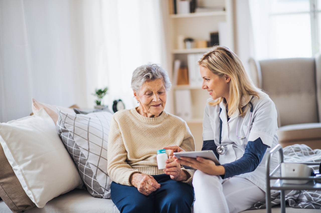 Older patient with caregiver