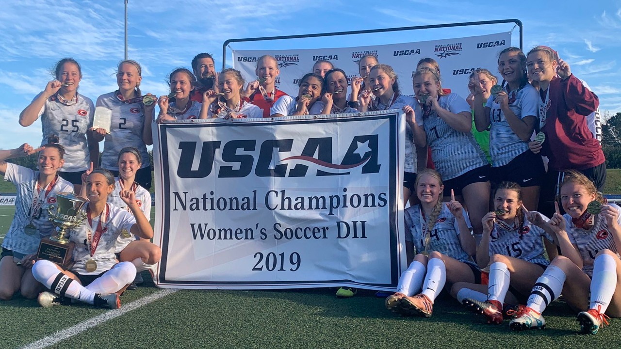 UC Clermont women's soccer team celebrates championship win