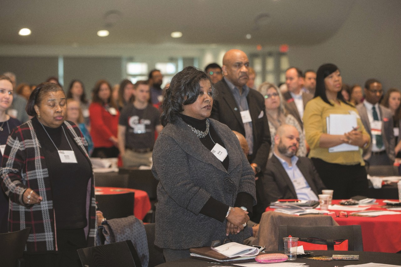 UC students, faculty and staff enjoyed keynote speaker Lee Mun Wah  during the 10th Annual Equity & Inclusion Conference at Tangeman University Center. UC/ Joseph Fuqua II