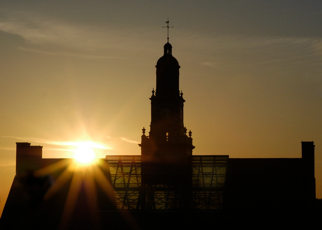 Sunrise over McMicken Hall