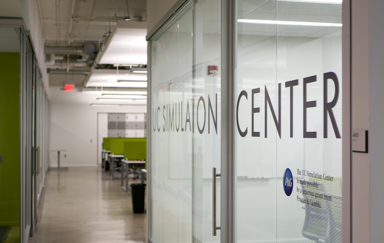 The door of the UC Simulation Center
