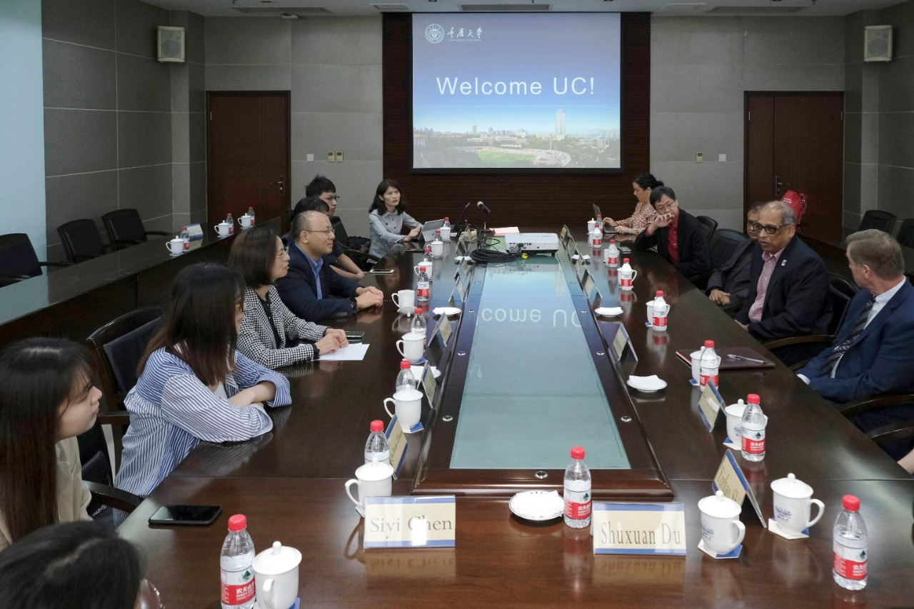 UC leaders meet with JCI students in China