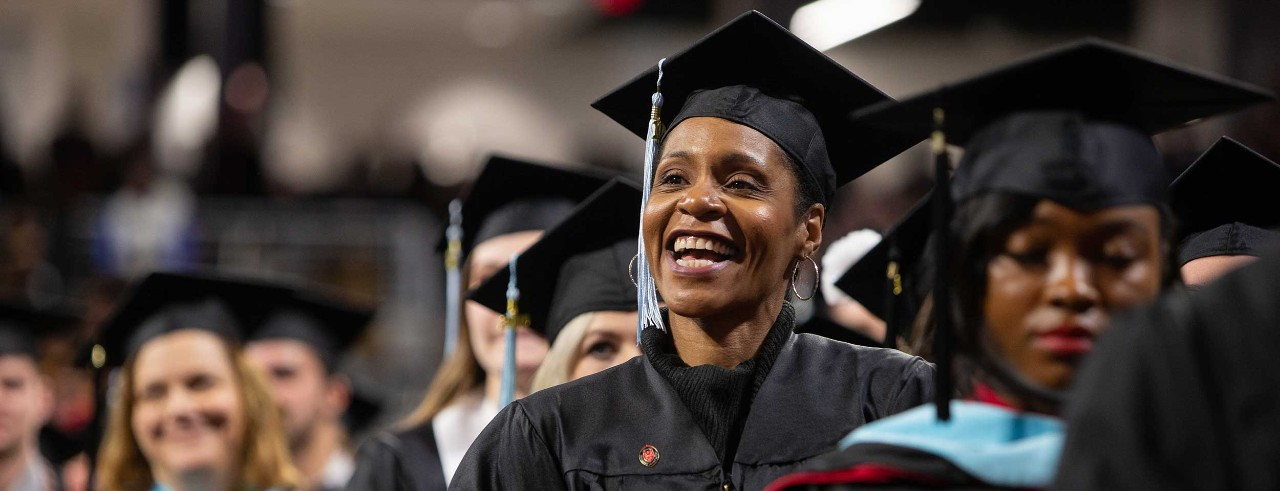 UC graduates celebrate commencement at Fifth Third Arena.