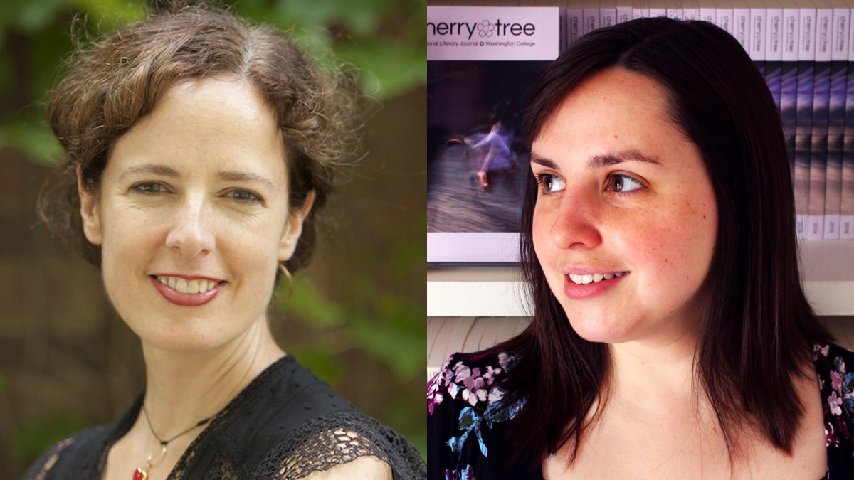 Author Katy Didden and poet Lindsay Lusby