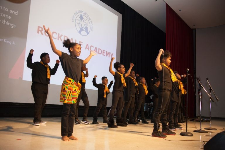Children from Rockdale Academy perform during MLK celebration