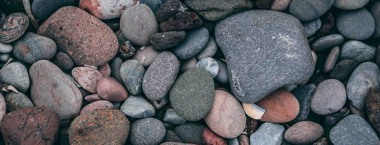 Rocks and pebbles on the ground