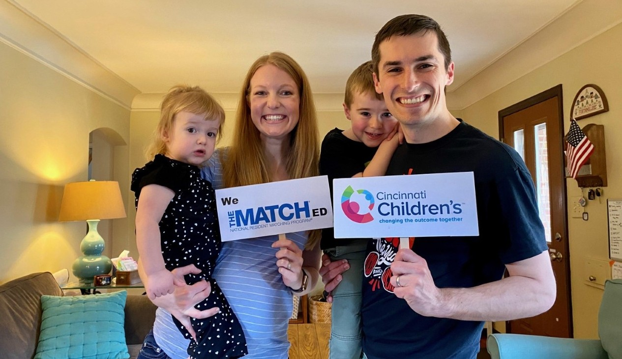 Andrew Furthmiller shown with his wife Jessica and two kids.