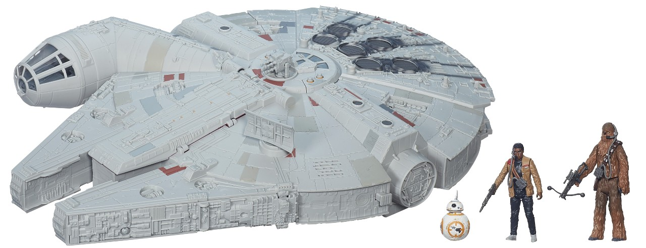 Star Wars Millennium Falcon toy with figurines