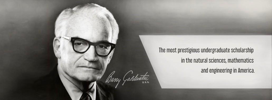Barry Goldwater against dark background.