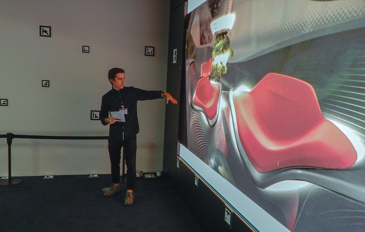 UC student presents a design concept for a car interior