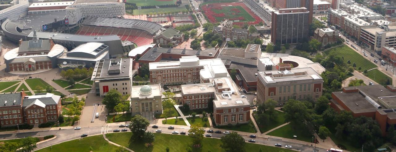 Aerial photo of the University of Cincinnati