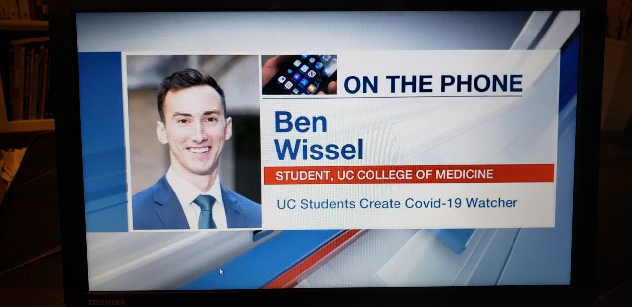 screen shot of Ben Wissel on Fox 19