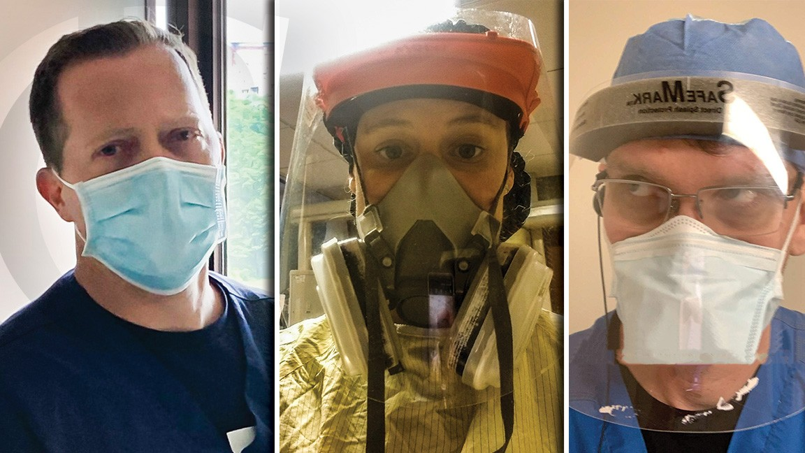 UC Blue Ash staff and faculty in PPE gear