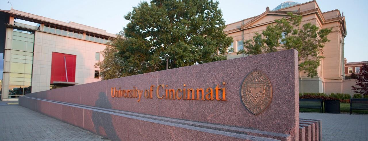 Sign displaying university name