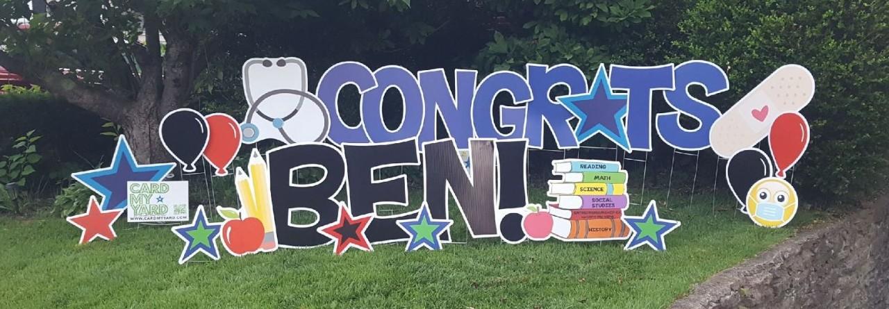 congratulations sign to ben kinnear