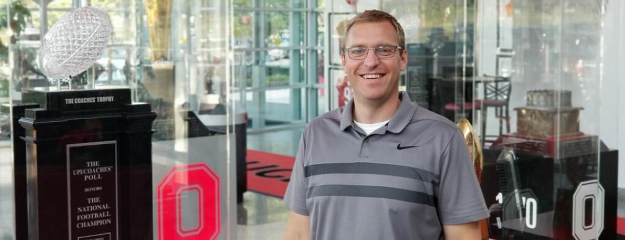 A photograph of CCM faculty member Joe Brackman at OSU.